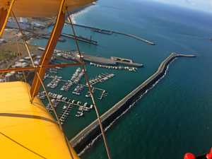 VIDEO: Flying over Mackay in a war time plane