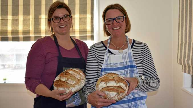 BAKING GODDESSES: Ladies at Begiona, including Gaylene Stanford and Kate Lyons, participated in a two-day sourdough bread making workshop.