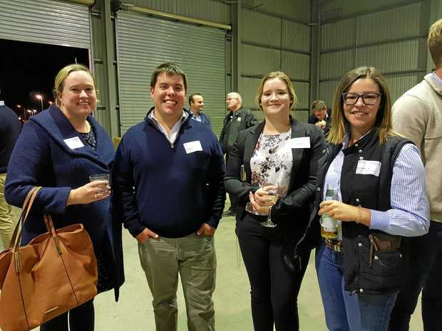 Enjoying the atmosphere at FLS's Meat Up are (from left) Jess Galvin, Matt Norton, Georgina Waters and Kate Johnston