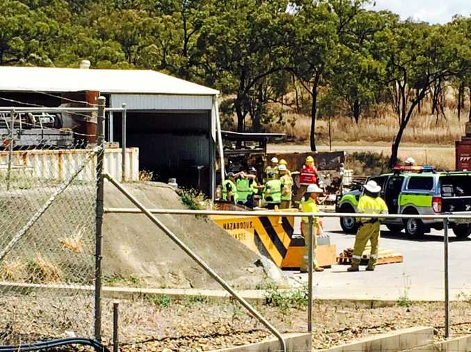 Veolia Environmental Services has been evacuated after a concrete kiln exploded.