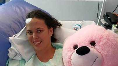 FIGHTING HARD: Nikki in bed during her time in hospital.