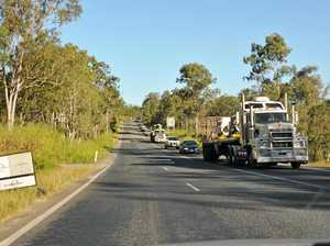 Peak Downs Hwy traffic affected by BMA dragline move