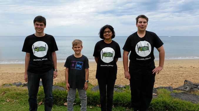 FUTURE MINDS: Flyn Abercrombie, Matthew Harris, Thomas Payne and Shreya Tekumalla.