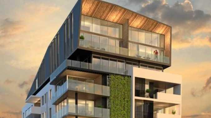 An artist's impression shows plans for Mosaic's Solis apartment complex development at Kings Beach.