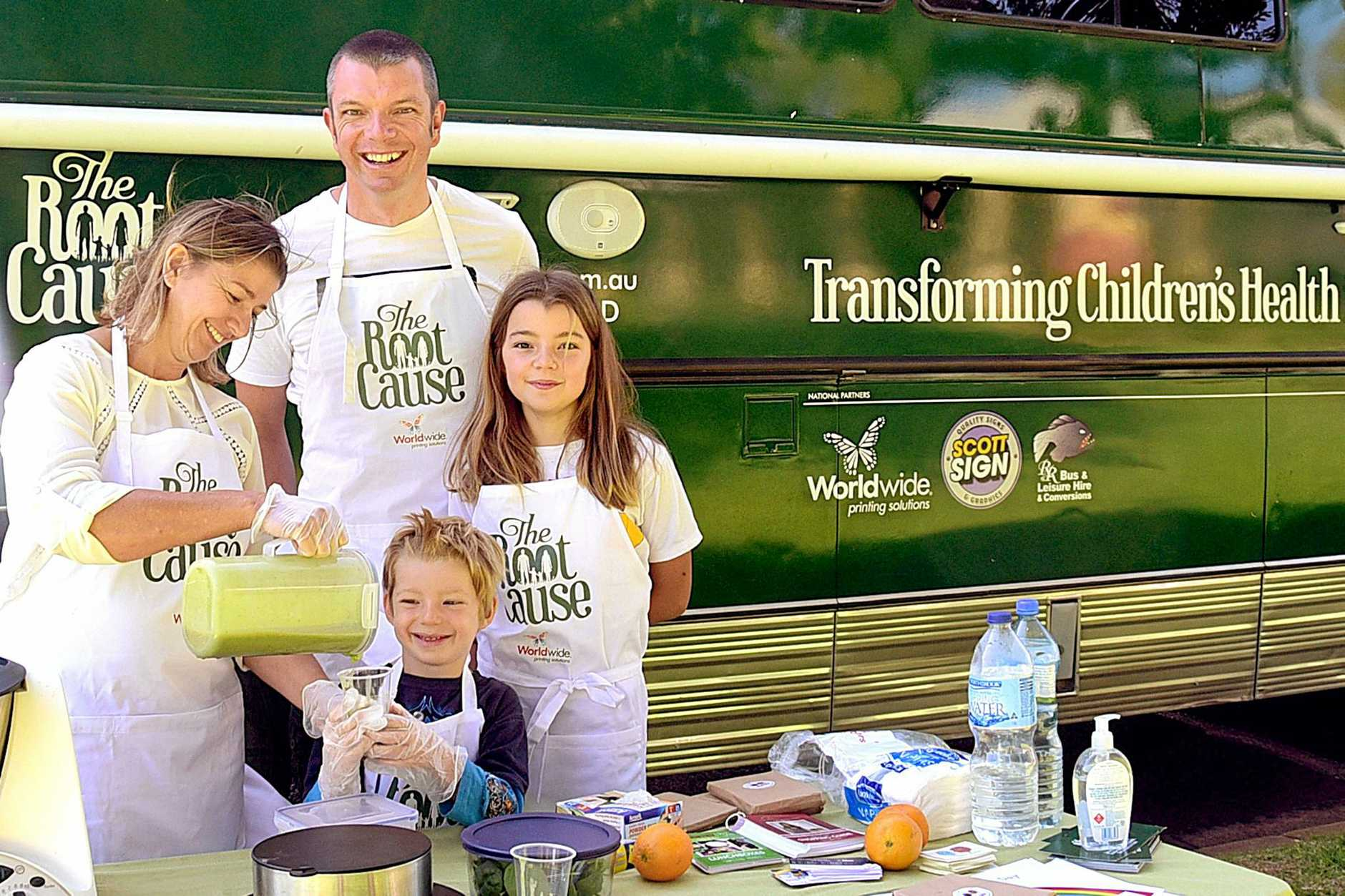 ON A MISSION: The Smith Family has been travelling around Australia to fight childhood obesity.