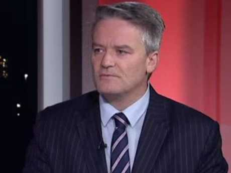 The stony-faced senator appeared momentarily stunned. Picture: ABC Source:ABC