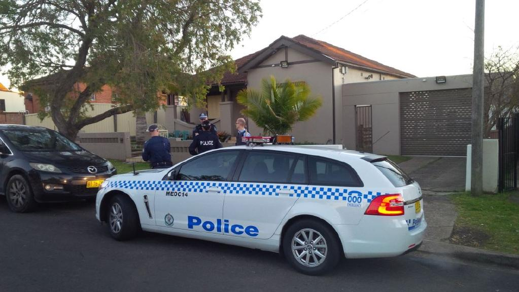 Federal and NSW Police are carrying out raids across Sydney. Picture: 9 News