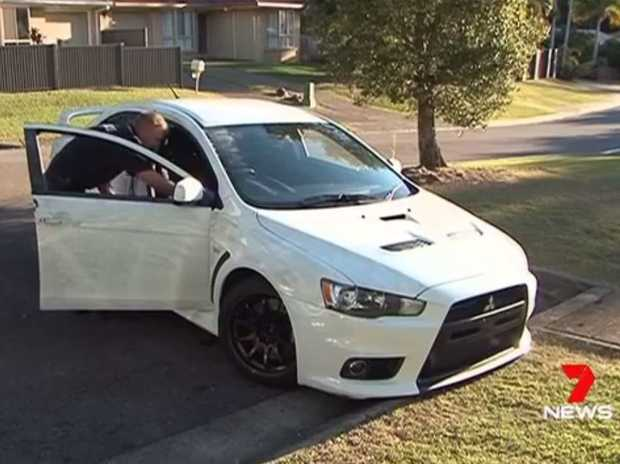 The 2011 Mitsubishi Lancer Evolution was found in a Kuluin street, less than 4km from where it was stolen at knife-point.
