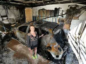 Nissan Murano explodes in family's garage