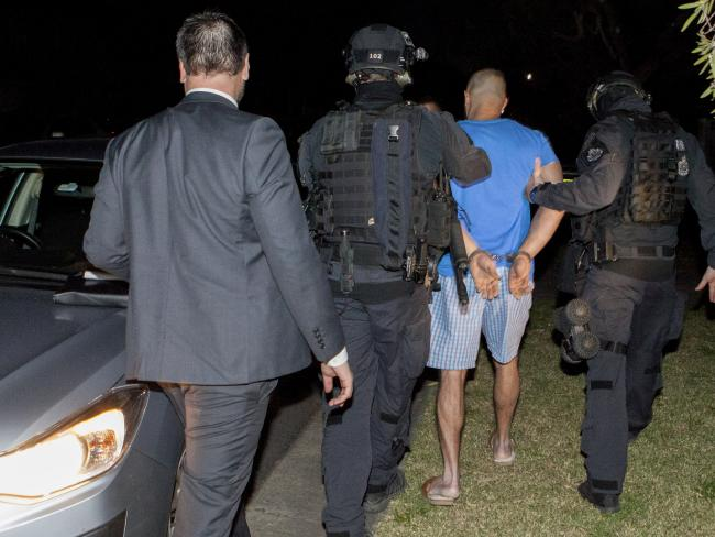 Across Sydney, NSW Police Force and Australian Federal Police officers swooped on numerous homes.