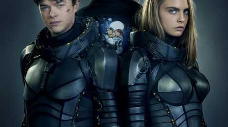 Dane DeHaan and Cara Delevingne star in the movie Valerian and the City of a Thousand Planets, directed by Luc Besson, pictured centre.