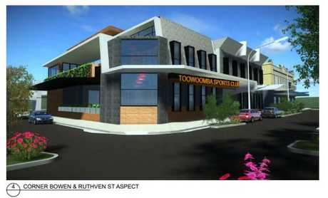 Submitted plans for the Toowoomba Sports Club expansion which proposes the demolition of the heritage-listed Metropole Hotel on the corner of Ruthven and Bowen Sts.