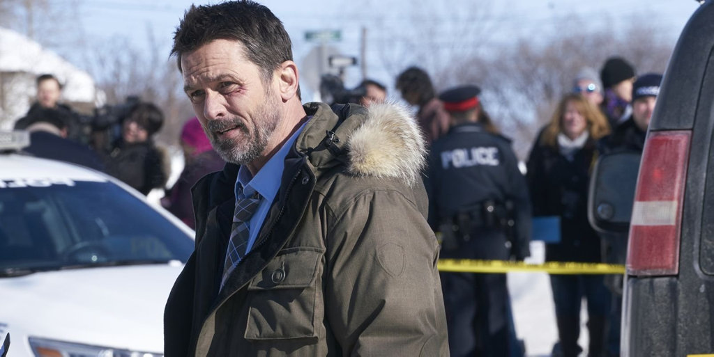 Billy Campbell in a scene from the TV series Cardinal.
