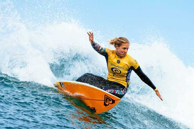 RIDING THE WAVE: The high performance centre is dedicated to the development of elite surfers such as Stephanie Gilmore (pictured) and coaches.