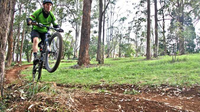 WHEELY GOOD: Richmond River Riders president Chris Irish is over the moon about the new Captain Rous Park Mountain Bike Trail at Hamley Rd, Goonellabah, which will be officially opened on August 20 at 11am.
