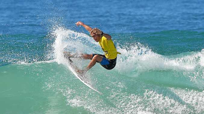 CARVE UP: Noah Stocca will hit the surf for the Woolworths Queensland Junior Titles series on the Sunshine Coast this weekend.
