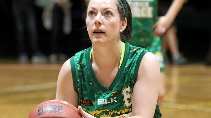 AIMING HIGH: Ipswich Force basketballer Marney George heads to Mackay on Friday night hoping to progress to the next stage in her final playoff series.