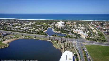 PROGRESS: An aerial plan of the Bokarina Beach development.