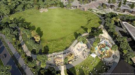 PROGRESS: A plan of the community park at Bokarina Beach.