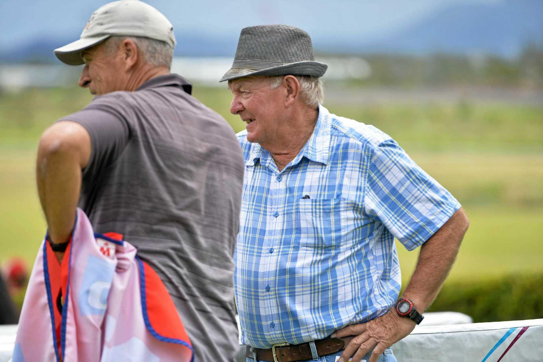 Trainer Denis Schultz. - Gladstone Horse Racing. Photo Paul Braven / The Observer