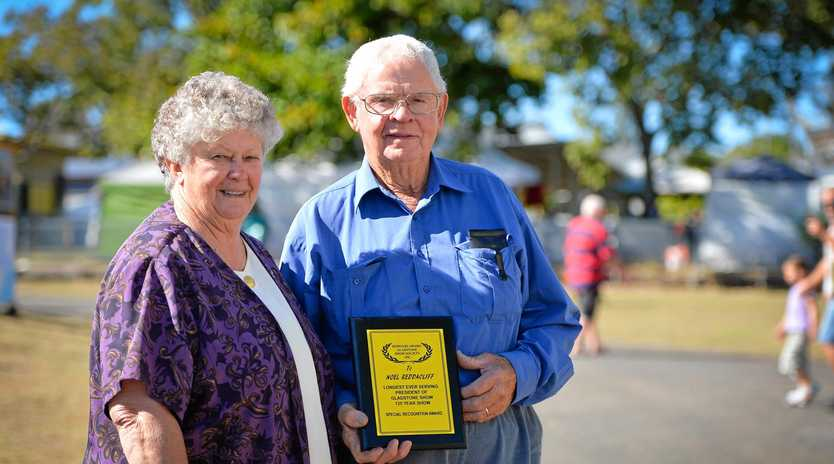 HONOURED: Robyn and Noel Reddacliff were recognised for all their work with the Show.