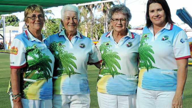 Champion of Champions winners Helena Miltenberg, Helen Hoogwerf, Jan Borg, Linda Foot.