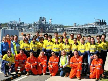 GAS: The Floating LNG Prelude trainees and QGC technicians also hosted a group of 23 students from the Gladstone region.