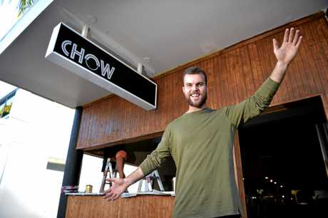 Chow venue manager Luke OKeefe ready for the big opening in Ocean Street, Maroochydore.