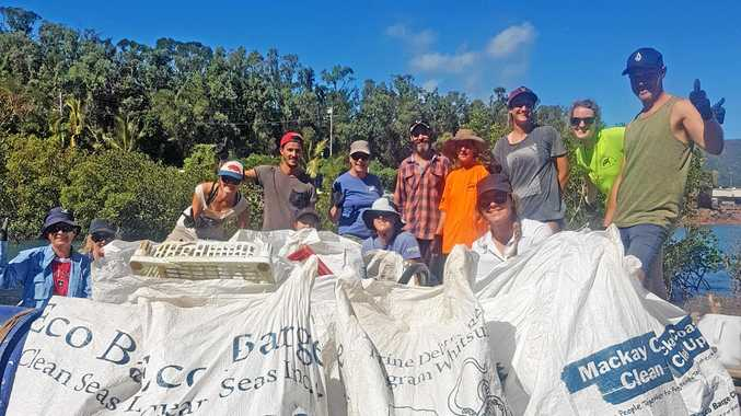 REMOVED: Some of the post-cyclone marine debris cleared by Eco Barge Clean Seas.