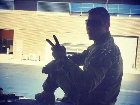 Daniel Ibrahim, son of John Ibrahim, posing in his army uniform. Picture: Instagram