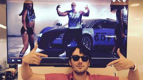 Picture from the Twitter account of Martin Shkreli ... before he was banned. Source: TwitterSource:Twitter