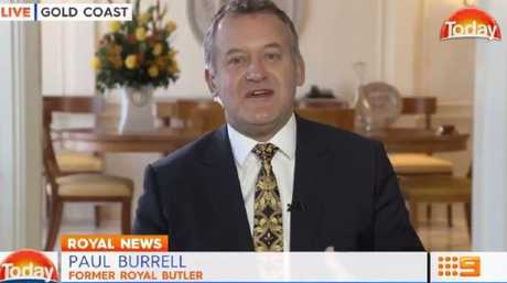 Paul Burrell appeared shocked by the line of questioning.