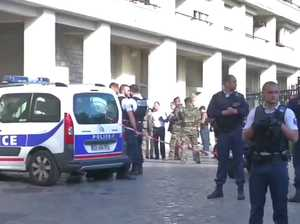 TERROR IN PARIS: Soldiers the target as they left barracks