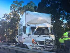 Cars banked up on Pacific Motorway
