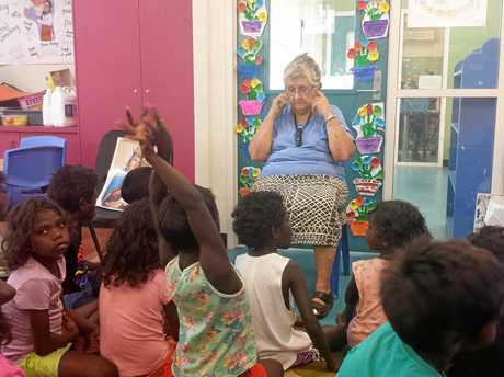 SENIOR AUSTRALIAN: Sister Anne Gardiner with students from Murrupurtiyanuwu Catholic School which is a Catholic primary school from preschool (aged 4 years) to Year 6 and managed by  a Tiwi leadership team.