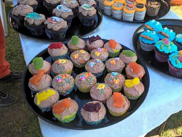 CUPCAKES: Just some of the 150 cupcakes at the Warra Markets RSPCA Cupcake Day last year.