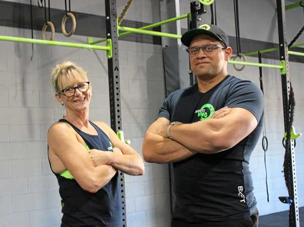 WORK IT OUT: CrossFit Vivid coaches Gayle Kruger and Hez Treanor.