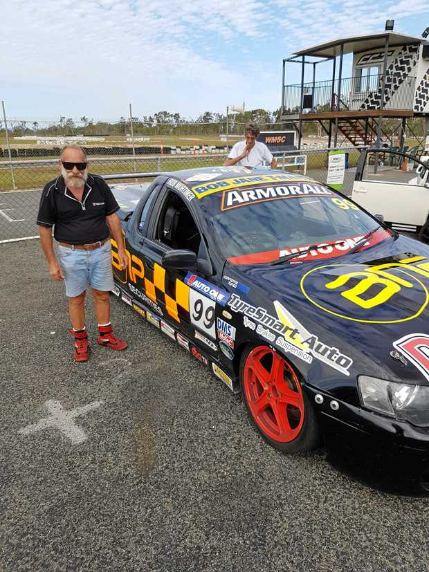 RALLY RACER: Rob Mortimer of the Whitsunday Sporting Car Club with his flying V8 Ford ute.