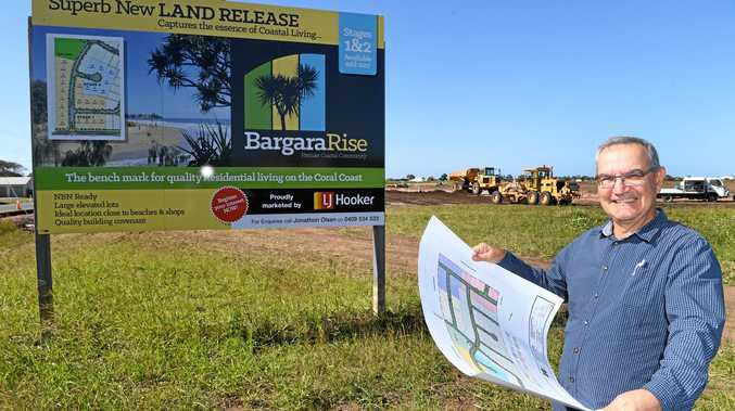 LAND RELEASE: Rob Sergiacomi on site at the Bargara Rise development off Watsons Road Bargara.