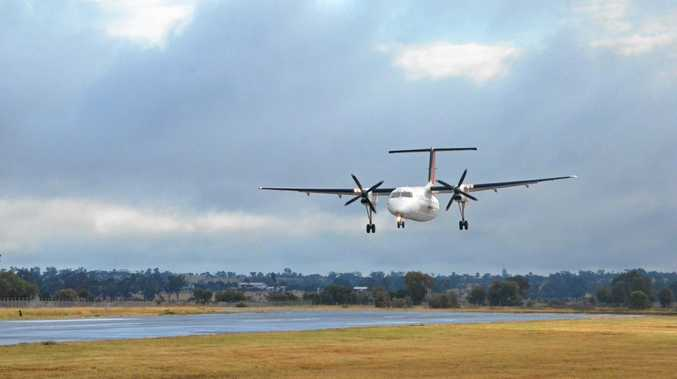 UP IN THE AIR: Figures showing an upward trend of chartered flights in Queensland may be altered by fly-in fly-out jobs. (INSET) Kelly Vea Vea.