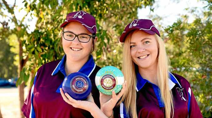 Selected for the Queensland under 25 lawn bowls side, Jacinta Weier and Kirsty de Waard.