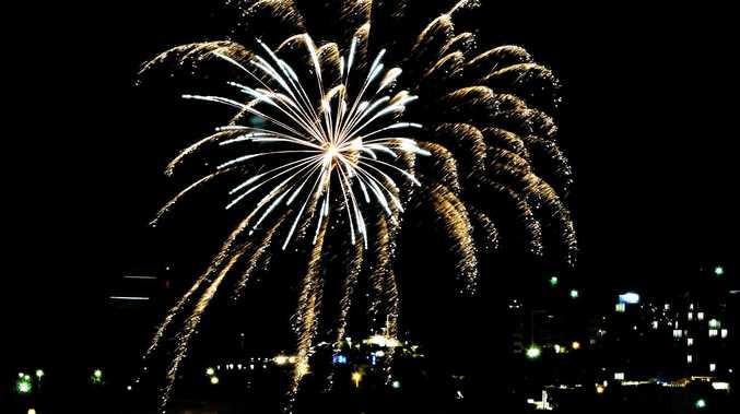 BIG BANG: Fireworks display at the 2017 Gladstone Show