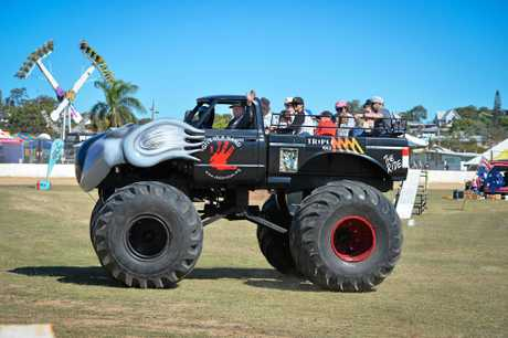 Everyone enjoyed a ride on the monster truck at the Glasdtone Show, 2017.