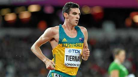 Patrick Tiernan of Australia during heat two of the men's 5000m.