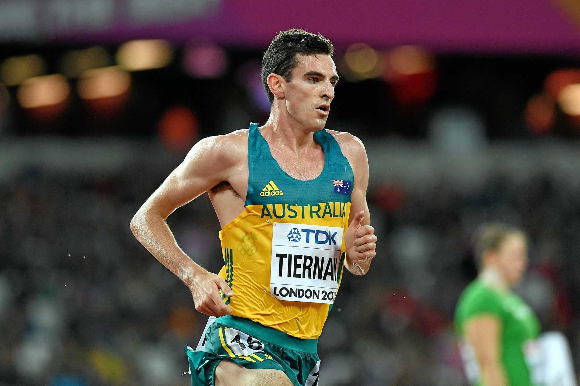 Patrick Tiernan of Australia during heat two of the men's 5000m.