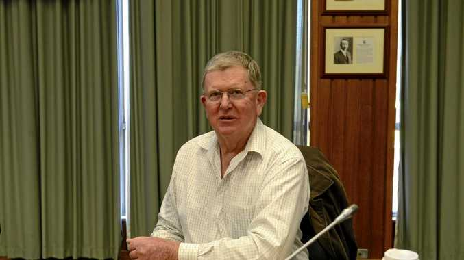 Councillor Andrew Baker at the Grafton Council Chambers.