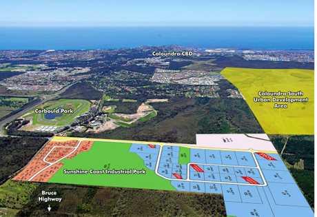 Sunshine Coast Industrial Park at Caloundra.