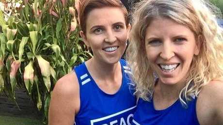 Ashleigh and Jaine Morris train for the Sunshine Coast Marathon.