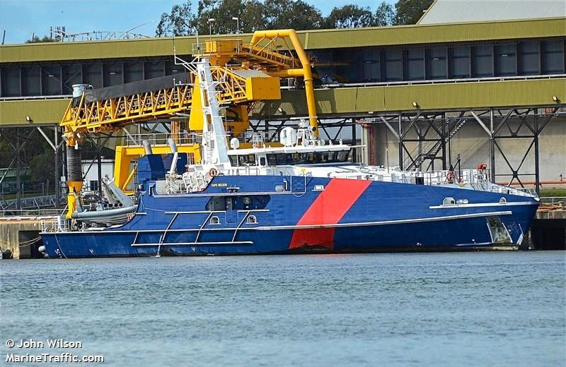 The 53m Cape Nelson arrived at the Port of Mackay Thursday night.