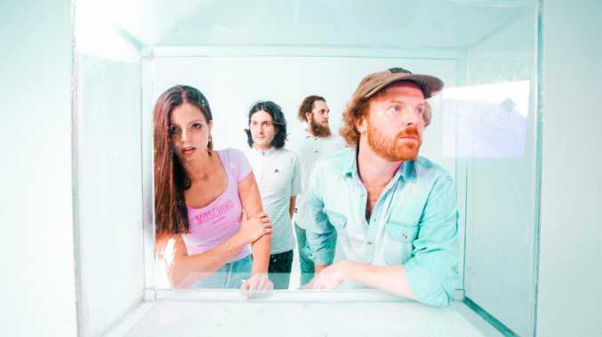 ON TOUR: The Jungle Giants are a four-piece band formed in 2011 in Brisbane, formed by of Sam Hales on vocals and guitar, Cesira Aitken on lead guitar, Andrew Dooris on bass and Keelan Bijker on drums and trombone.